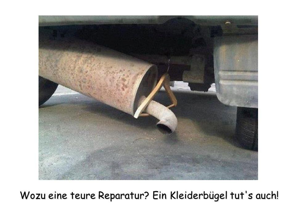 Wozu eine teure Reparatur? Ein Kleiderbügel tut's auch!