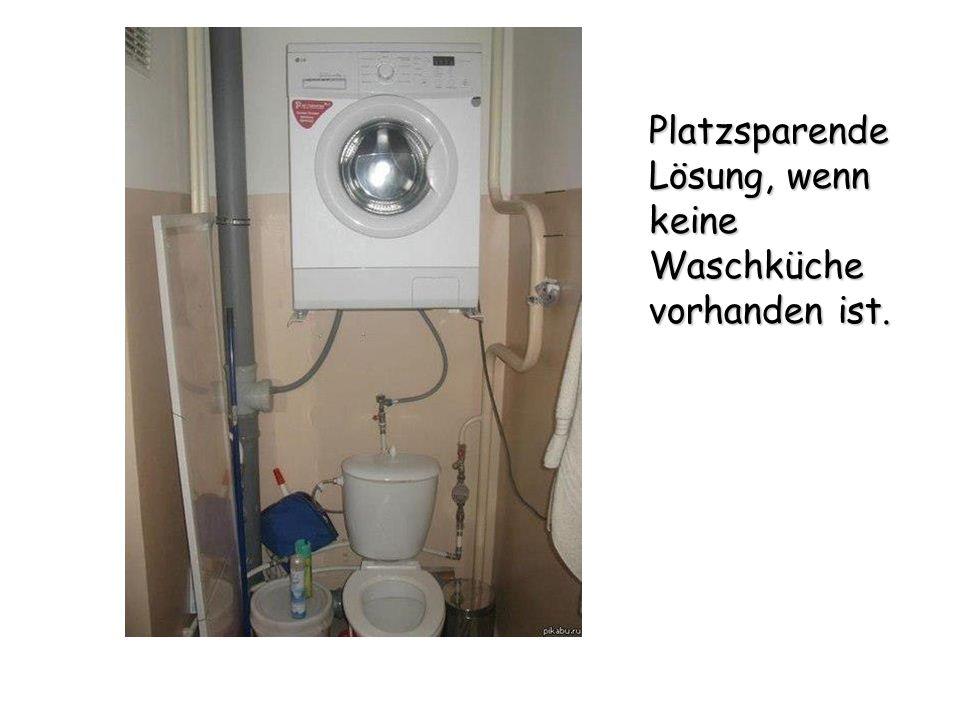 Platzsparende Lösung, wenn keine Waschküche vorhanden ist.