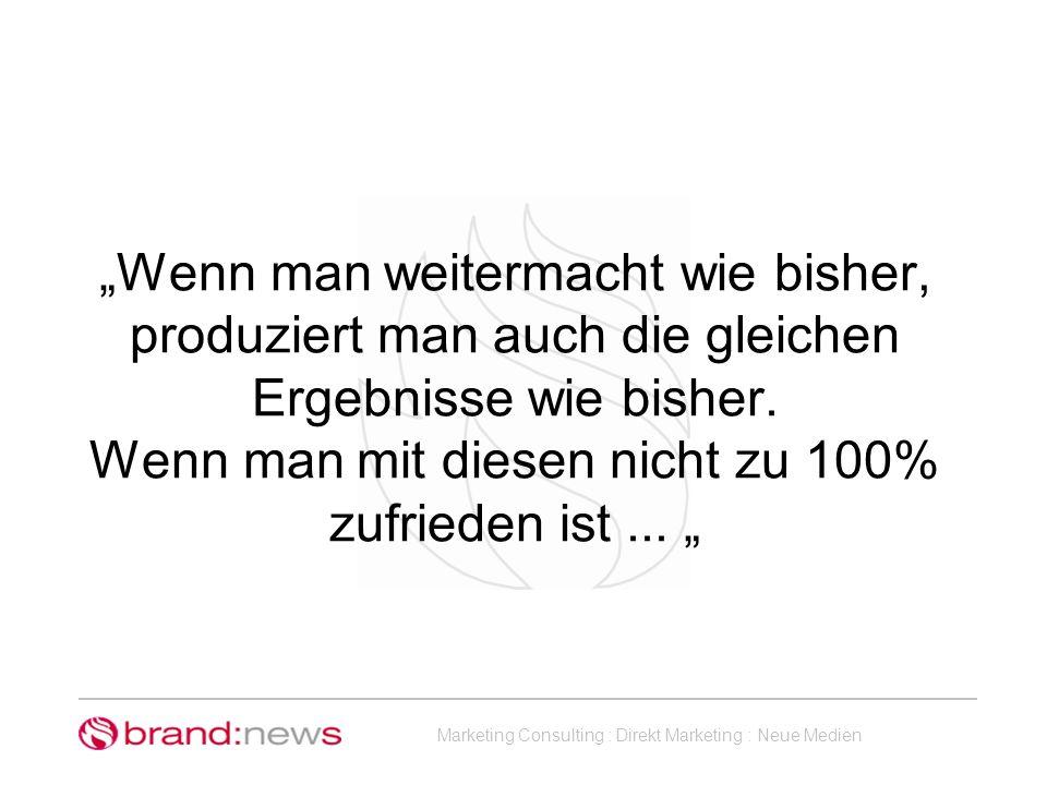 Marketing Consulting : Direkt Marketing : Neue Medien Mein Produkt Eigenschaften Funktionen USP...