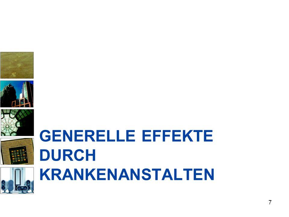 GENERELLE EFFEKTE DURCH KRANKENANSTALTEN 7