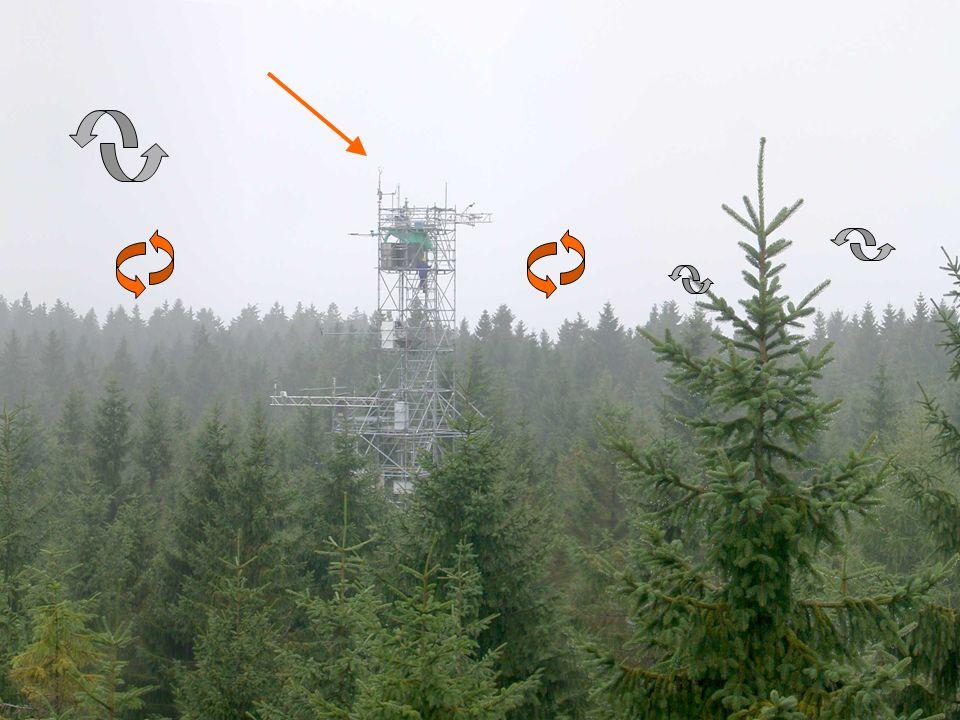 Waldstein (Fichtelgebirge) 07.07.2000 data acquisition: 20 Hz Eddy Kovarianz: Beispiel turbulenter Fluss fühlbarer Wärme