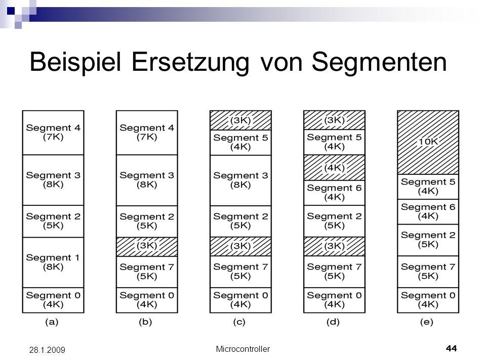 Microcontroller44 28.1.2009 Beispiel Ersetzung von Segmenten