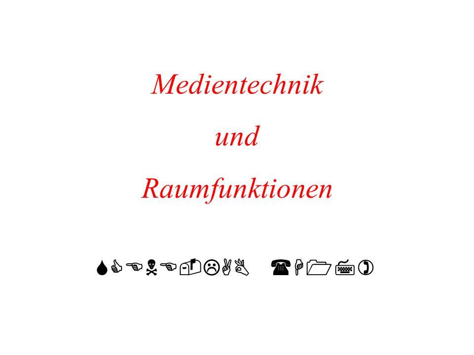 Medientechnik und Raumfunktionen SCENE-LAB (H17)