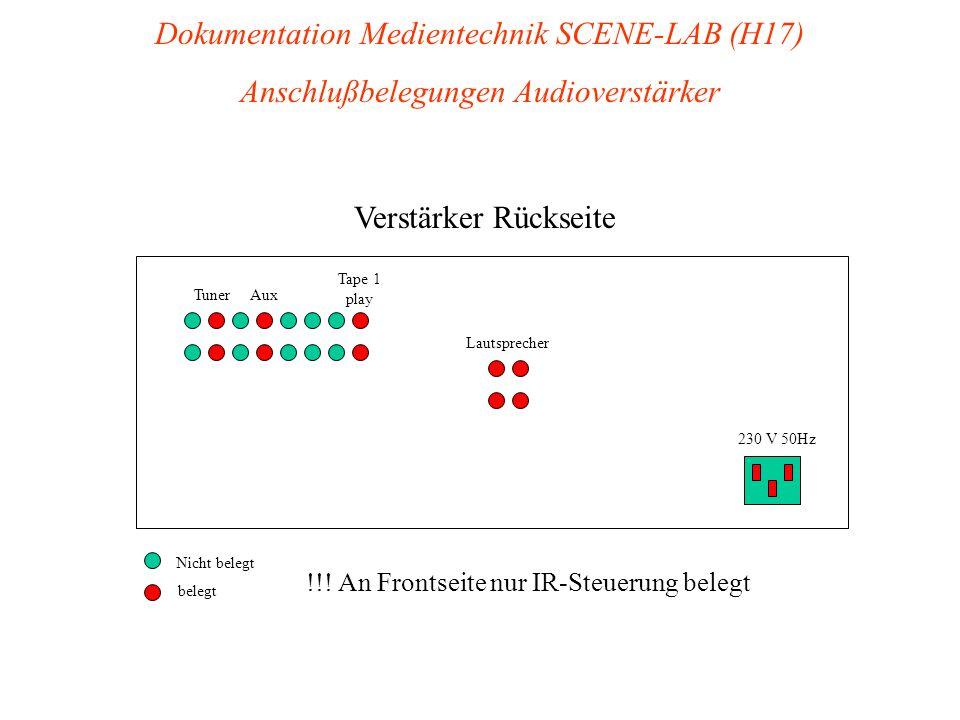 230 V 50Hz Verstärker Rückseite Lautsprecher Tape 1 play AuxTuner Nicht belegt belegt !!.
