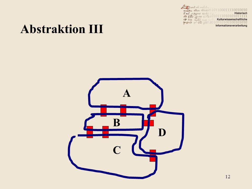 Abstraktion III B A C D 12
