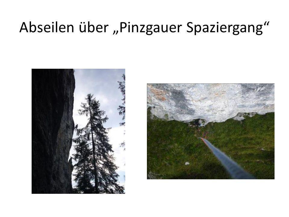 Abseilen über Pinzgauer Spaziergang