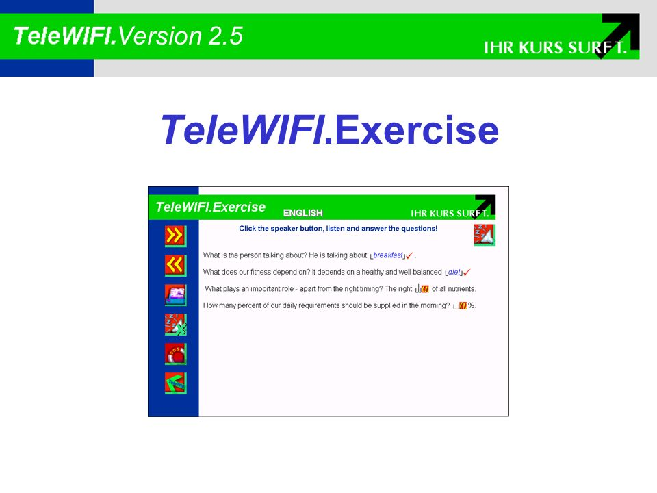 TeleWIFI.Exercise Version 2.5