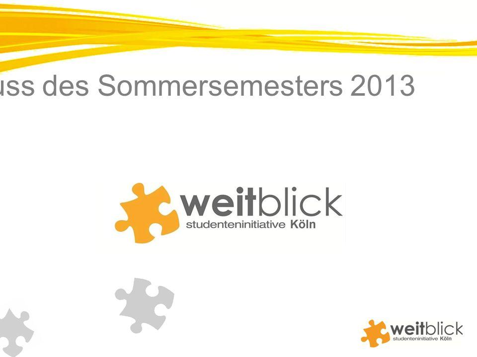 Newsletter zum Abschluss des Sommersemesters 2013