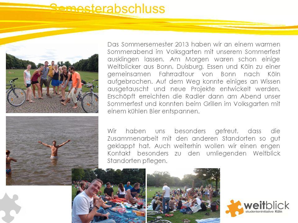 Das Sommersemester 2013 haben wir an einem warmen Sommerabend im Volksgarten mit unserem Sommerfest ausklingen lassen.