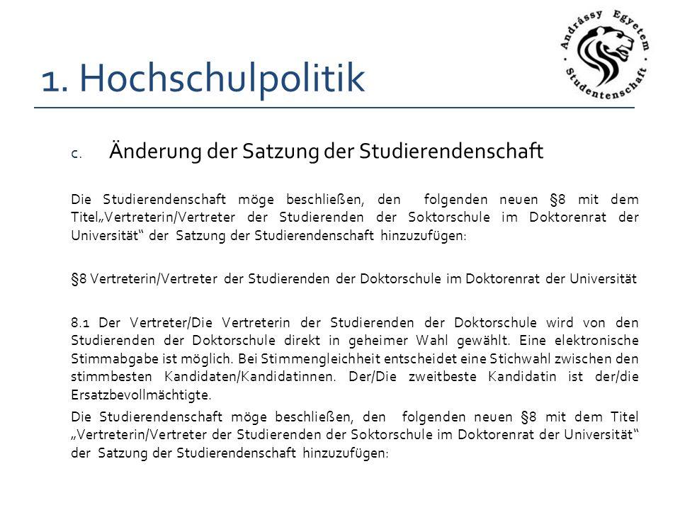1. Hochschulpolitik c.