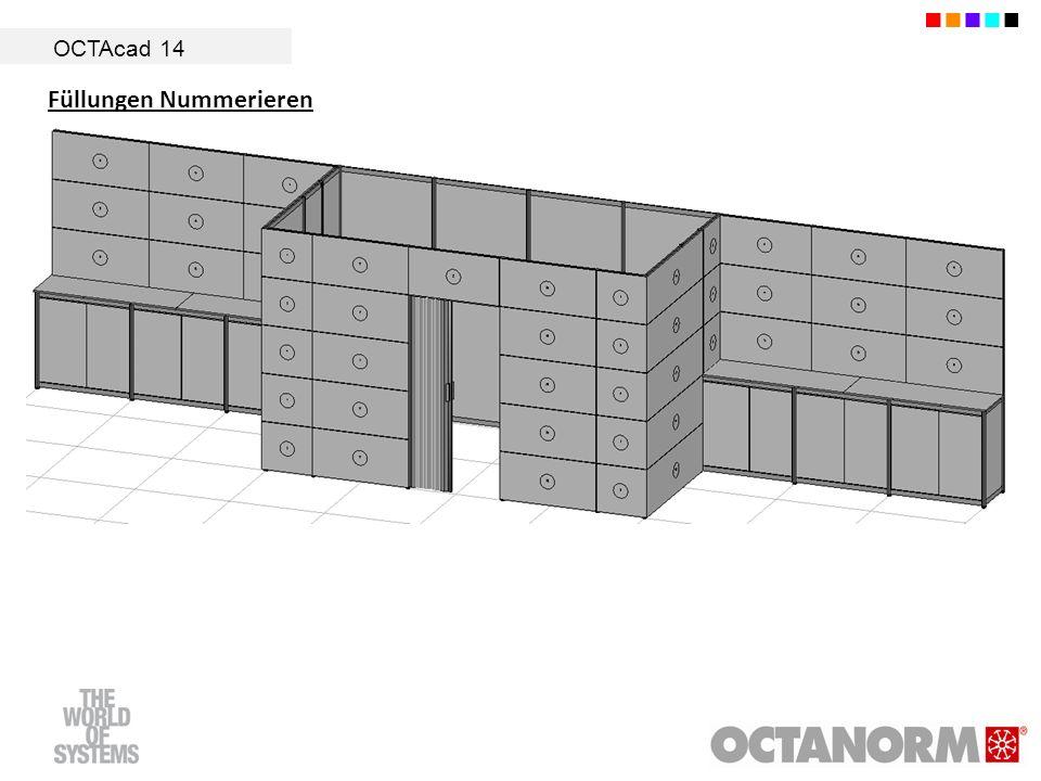 OCTAcad 14 Füllungen Nummerieren