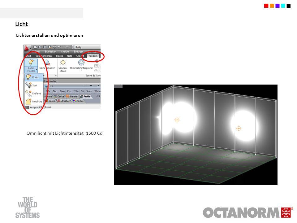 Omnilicht mit Lichtintensität 1500 Cd Licht
