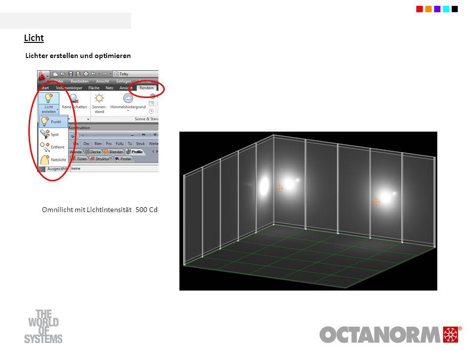 Lichter erstellen und optimieren Omnilicht mit Lichtintensität 500 Cd Licht