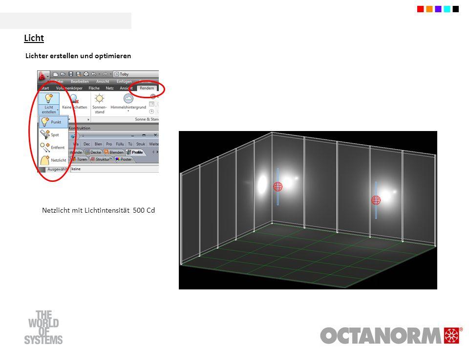 Lichter erstellen und optimieren Netzlicht mit Lichtintensität 500 Cd Licht