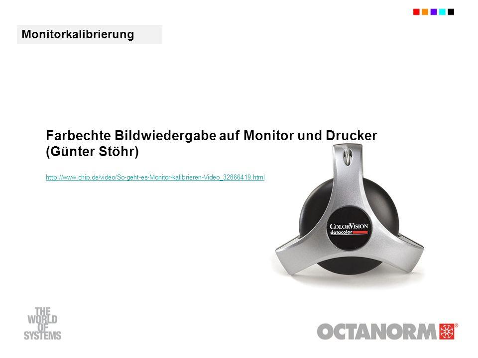 Farbechte Bildwiedergabe auf Monitor und Drucker (Günter Stöhr) http://www.chip.de/video/So-geht-es-Monitor-kalibrieren-Video_32866419.html Monitorkalibrierung