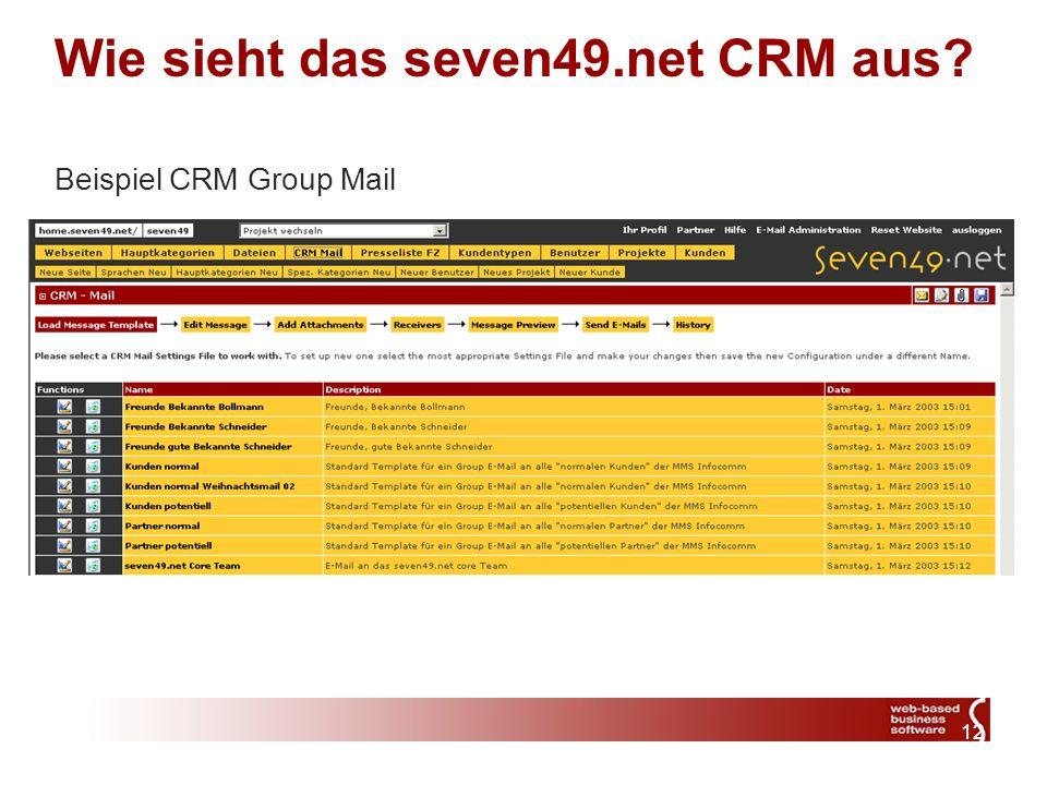 12 Wie sieht das seven49.net CRM aus Beispiel CRM Group Mail