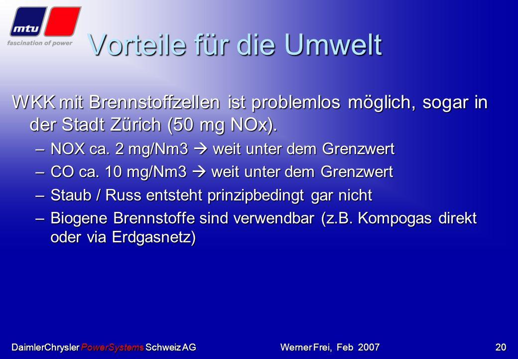 DaimlerChrysler PowerSystems Schweiz AGWerner Frei, Feb 200719 hotmodule Im Bild: Anlage Vattenfall in Berlin Zweistoff-Anlage mit Methanol / Erdgas i