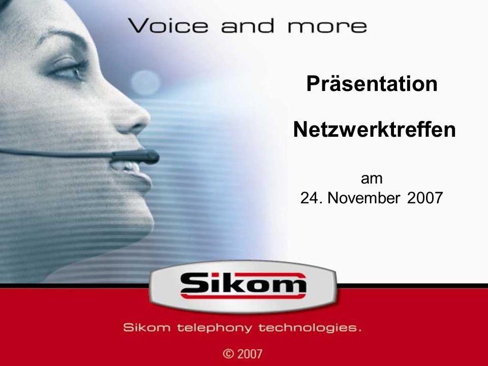 Präsentation Netzwerktreffen am 24. November 2007