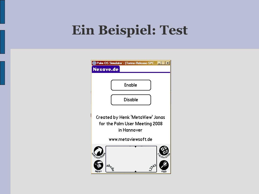 Ein Beispiel: Test