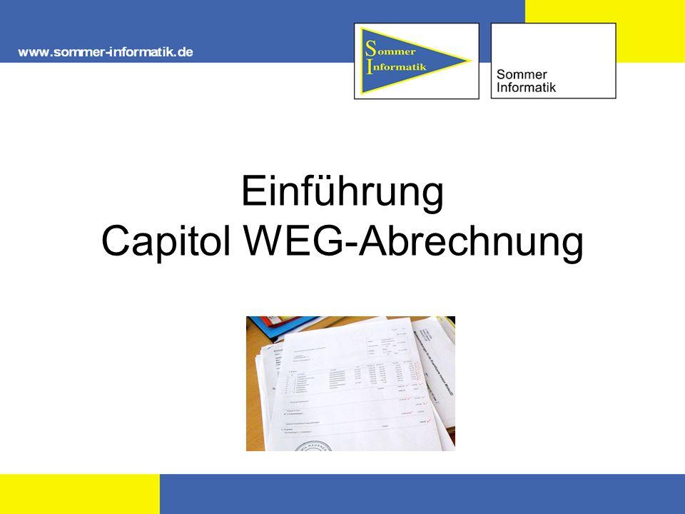 Einführung Capitol WEG-Abrechnung
