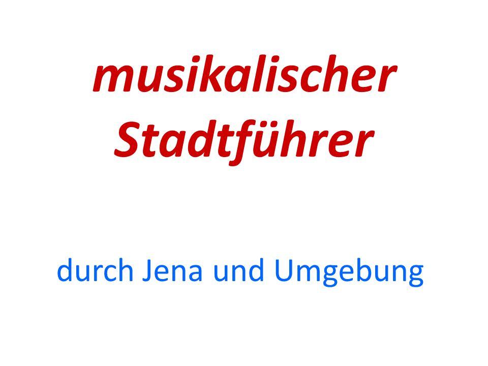 Haltestelle 9 Volkshaus -Ort: Carl-Zeiss-Platz 15 -riesiger Saal -viele Konzerte, Theaterstücke, Orchesterauftritte und Chorvorführungen -kostenpflichtig Theaterhaus und Kulturarena -Ort: Schillergässchen 1 -große Außenanlage -Konzertauftritte von teilweise internationalen Bands -Konzerte hört man fast in ganz Jena -kostenpflichtig Volksbad -Ort: Knebelstraße 10 -viele Konzerte -manchmal auch Vorlesungen und Theatervorführungen -kostenpflichtig