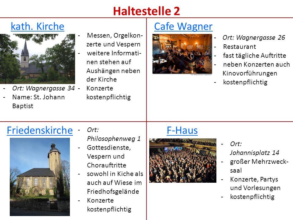 Haltestelle 3 Schillerkirche Kulturbahnhof POM-Arena