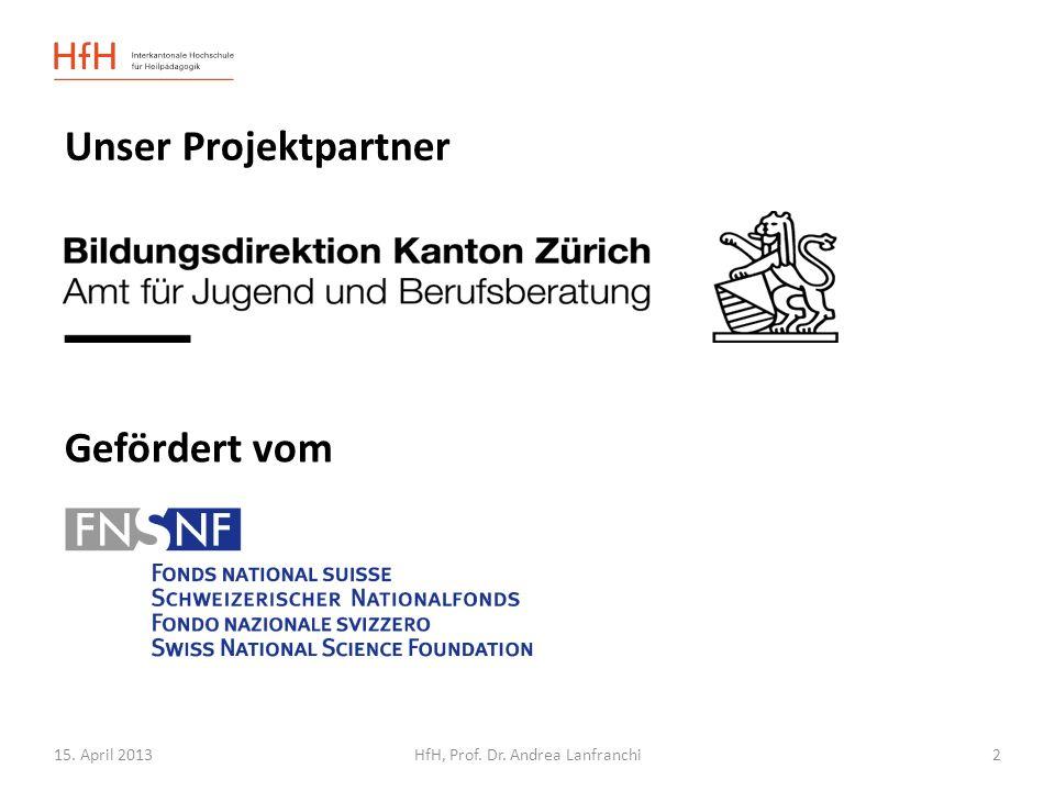 15. April 2013HfH, Prof. Dr. Andrea Lanfranchi Gesponsert von 3