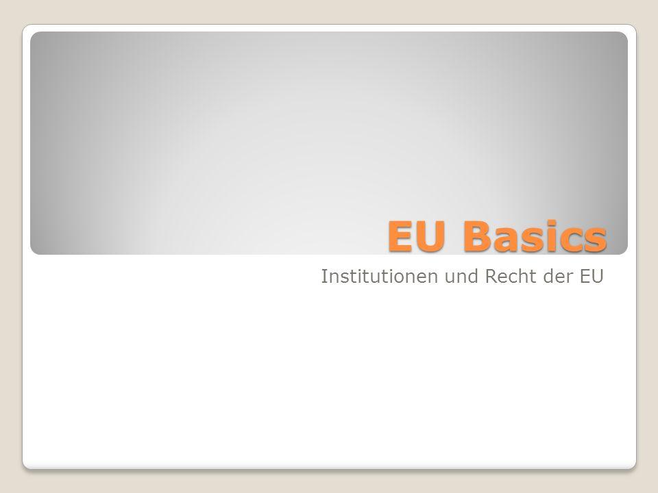 EU Basics Institutionen und Recht der EU