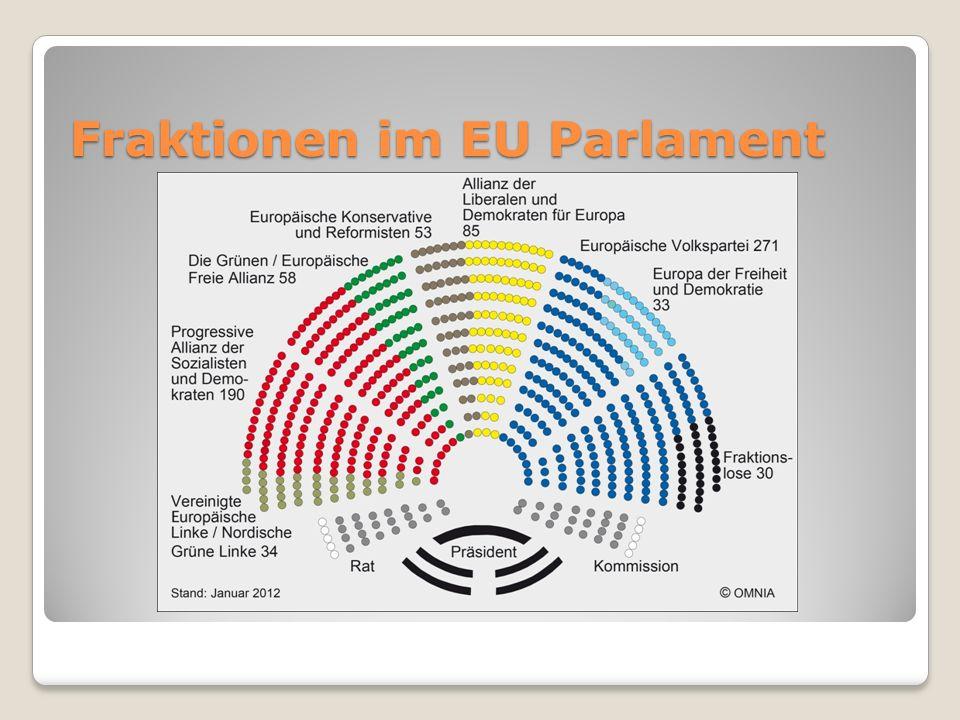 Fraktionen im EU Parlament