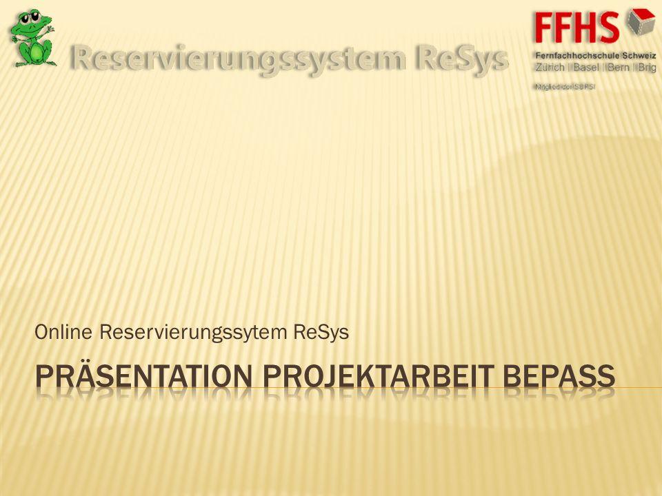 Online Reservierungssytem ReSys