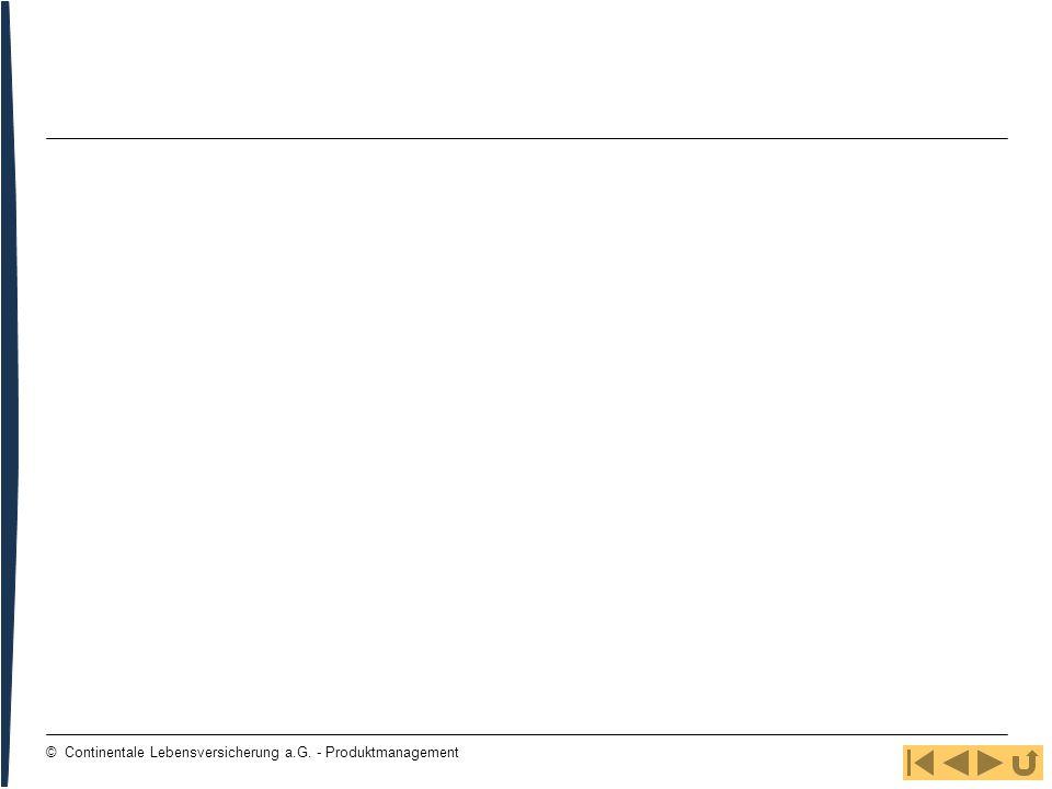 12 © Continentale Lebensversicherung a.G. - Produktmanagement