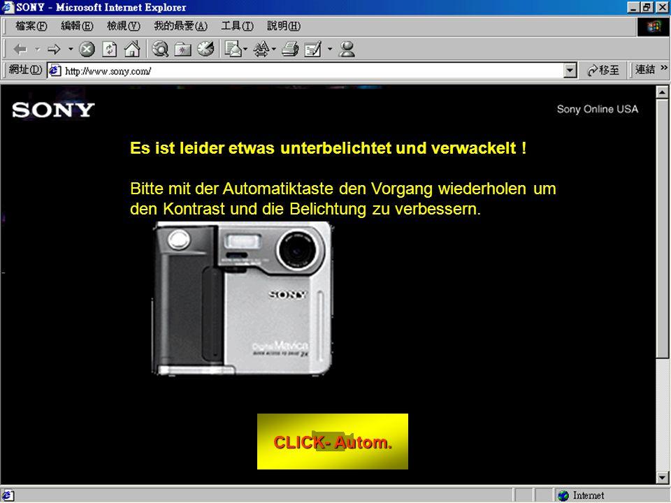 CLICK- FOTO CLICK- FOTO Wie mache ich ein foto: - Vor den Monitor sitzen.
