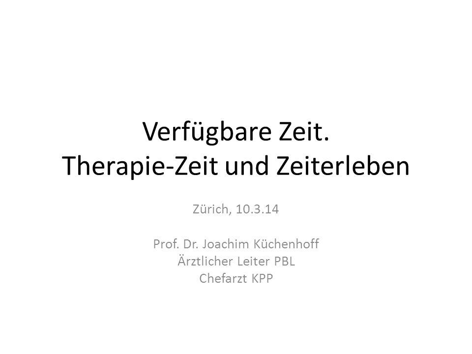 Die Begrenzung der Zeit in der (Psycho-)Therapie