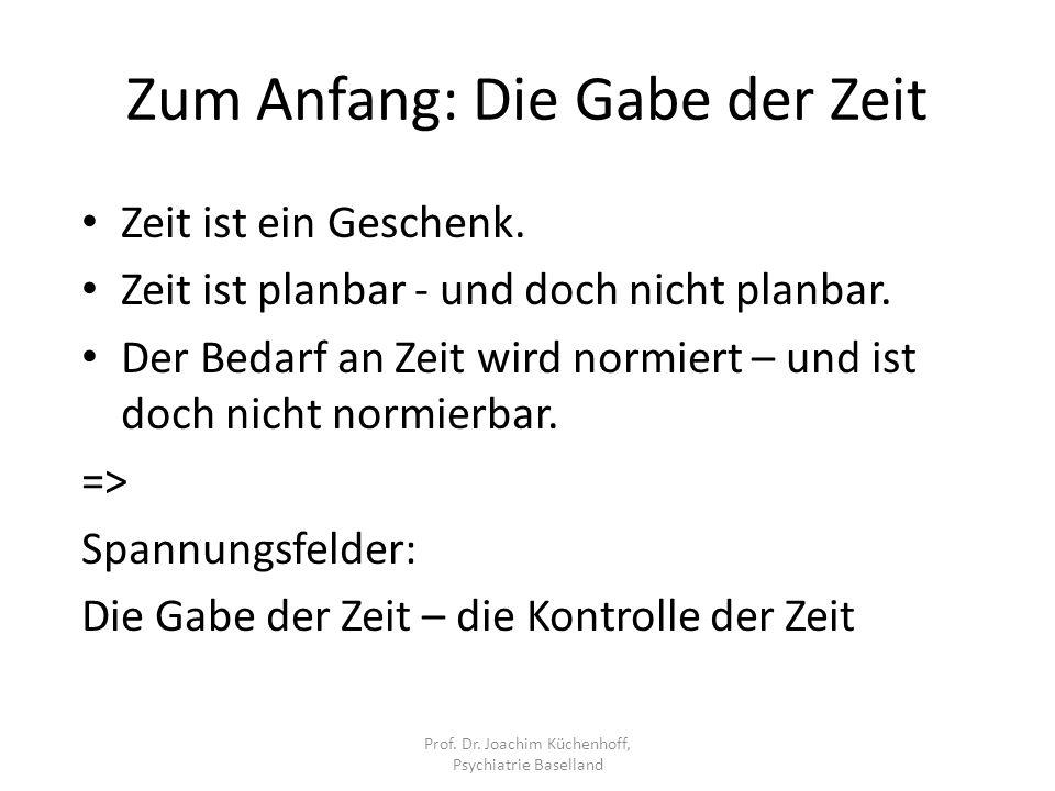 Kurz- und Fokaltherapie Prof. Dr. Joachim Küchenhoff, Psychiatrie Baselland