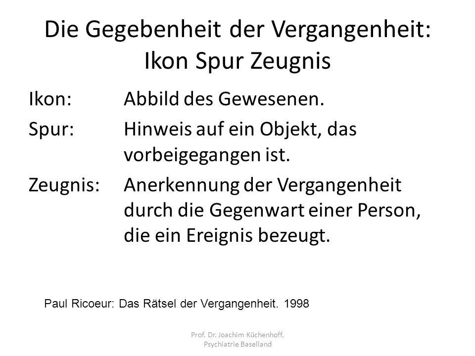 Eingegrabene Spuren der Zeit Prof. Dr. Joachim Küchenhoff, Psychiatrie Baselland