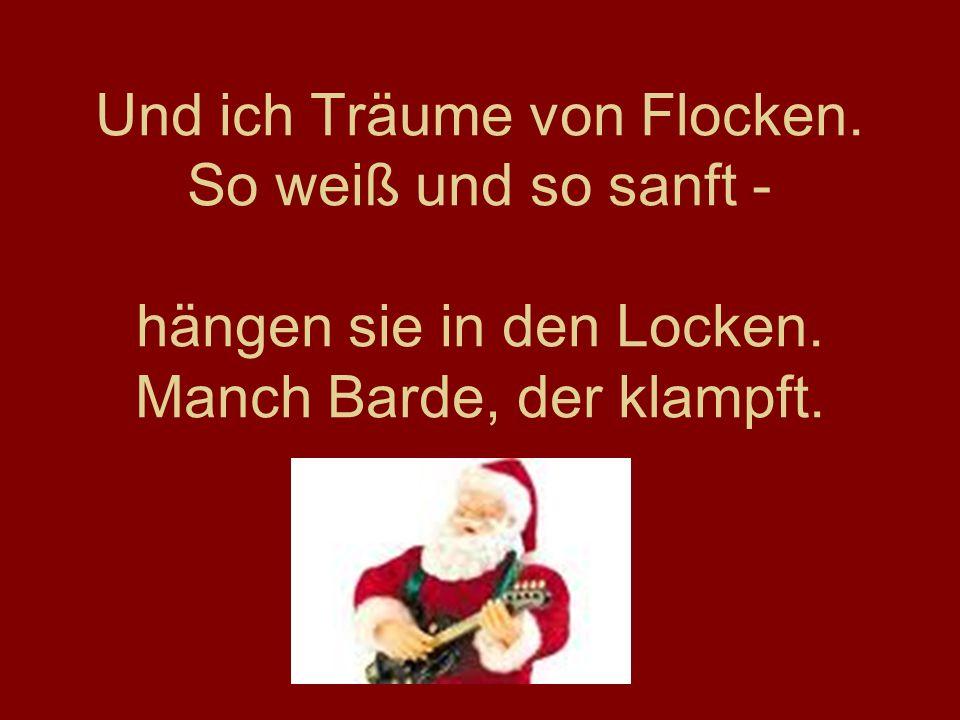 www.frankaseeliger.de Und ich Träume von Flocken. So weiß und so sanft - hängen sie in den Locken.