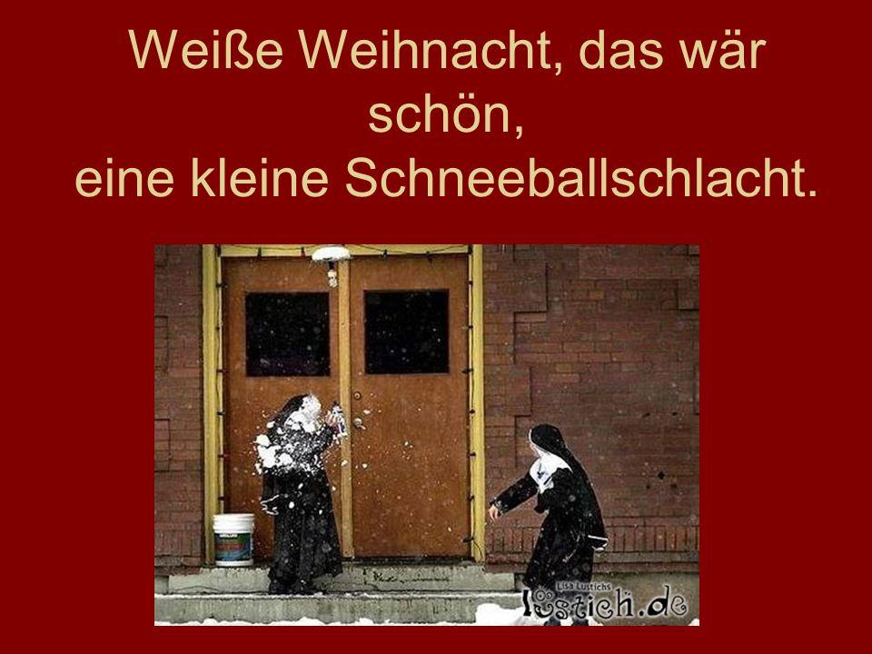 www.frankaseeliger.de Weiße Weihnacht, das wär schön, eine kleine Schneeballschlacht.