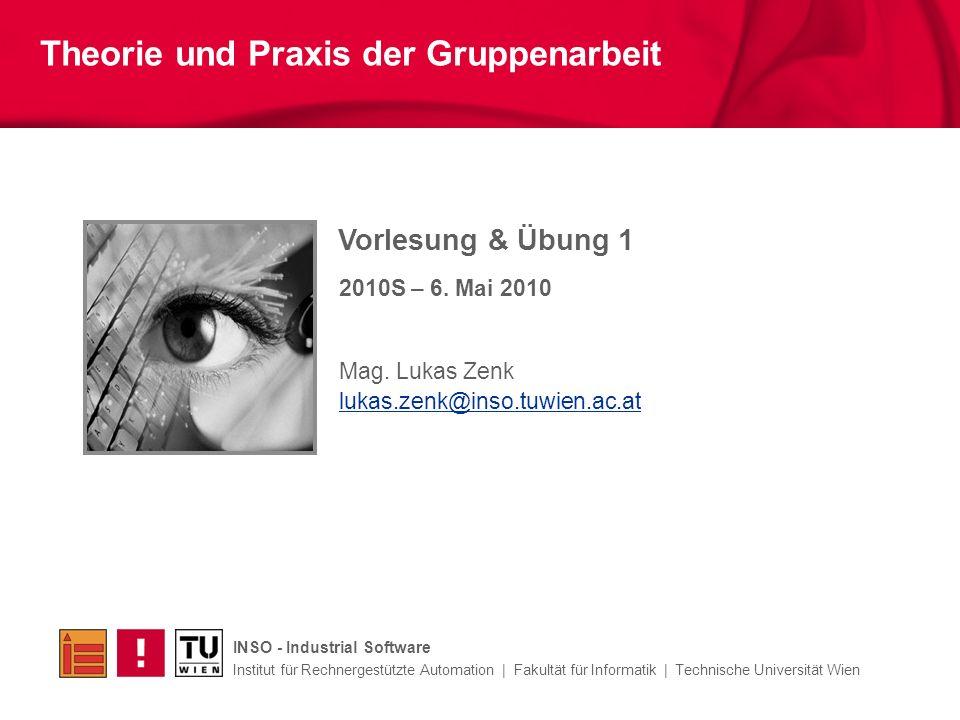 Vorlesung & Übung 1 Mag.