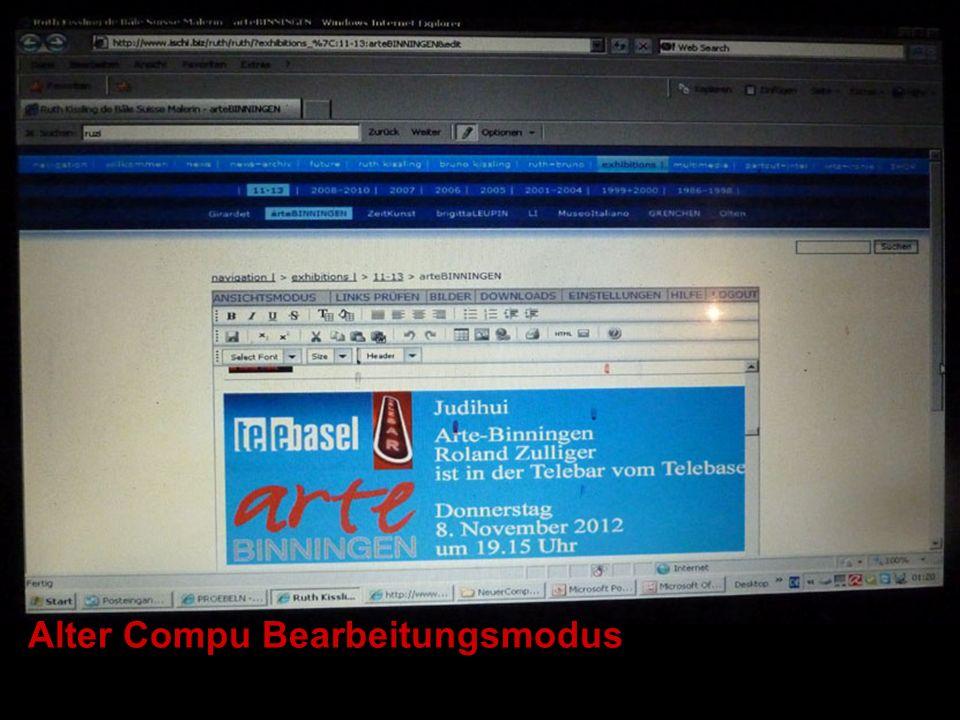 Alter Compu Bearbeitungsmodus