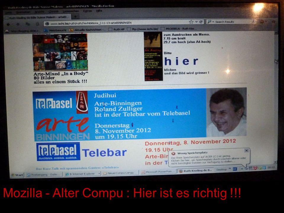 Mozilla - Alter Compu : Hier ist es richtig !!!