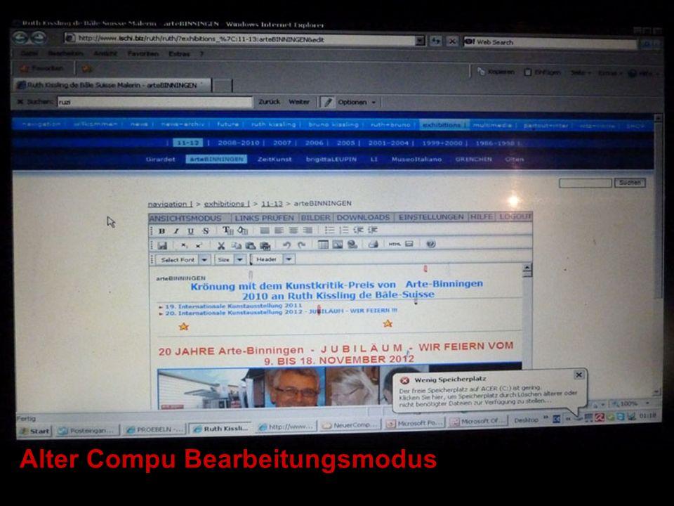 Neuer Compu Bearbeitungsmodus