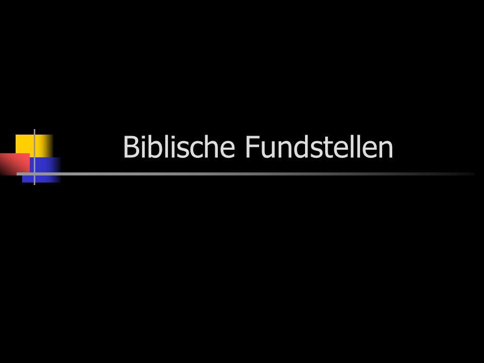 Biblische Fundstellen
