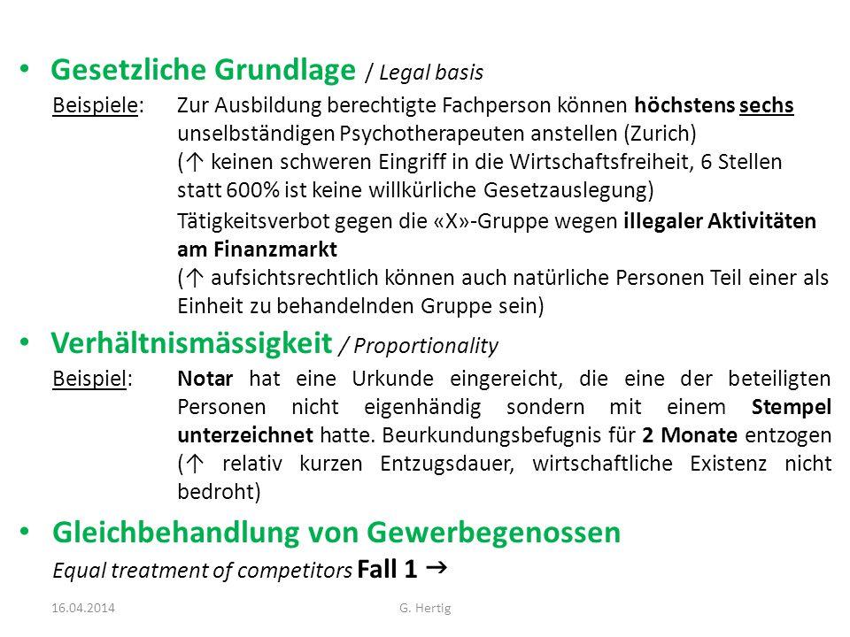 Gesetzliche Grundlage / Legal basis Beispiele: Zur Ausbildung berechtigte Fachperson können höchstens sechs unselbständigen Psychotherapeuten anstelle