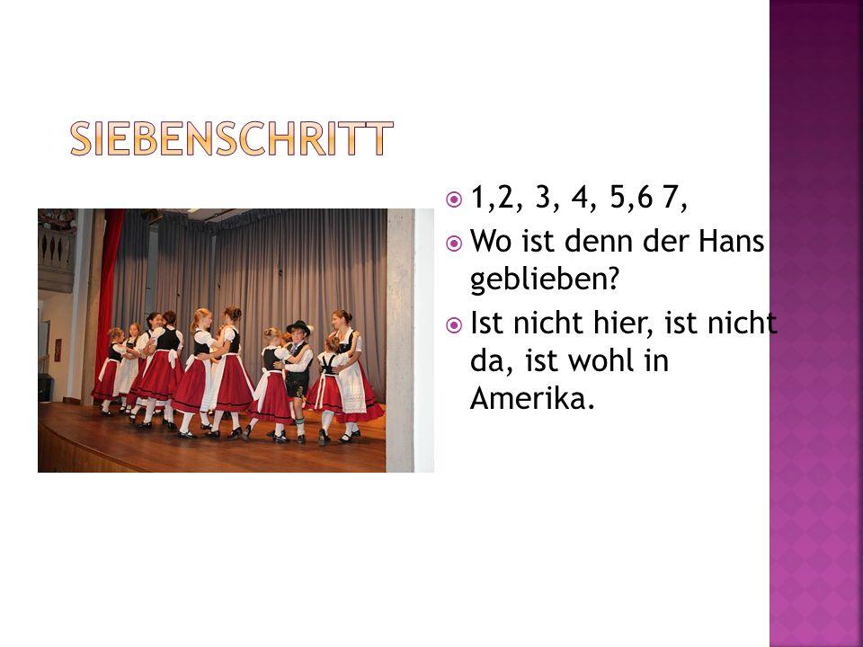 1,2, 3, 4, 5,6 7, Wo ist denn der Hans geblieben? Ist nicht hier, ist nicht da, ist wohl in Amerika.