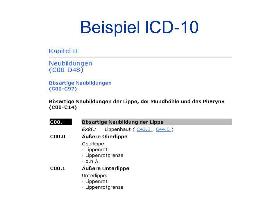 Beispiel ICD-10