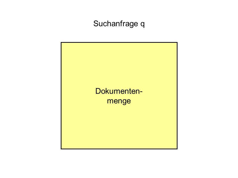 Dokumenten- menge Suchanfrage q