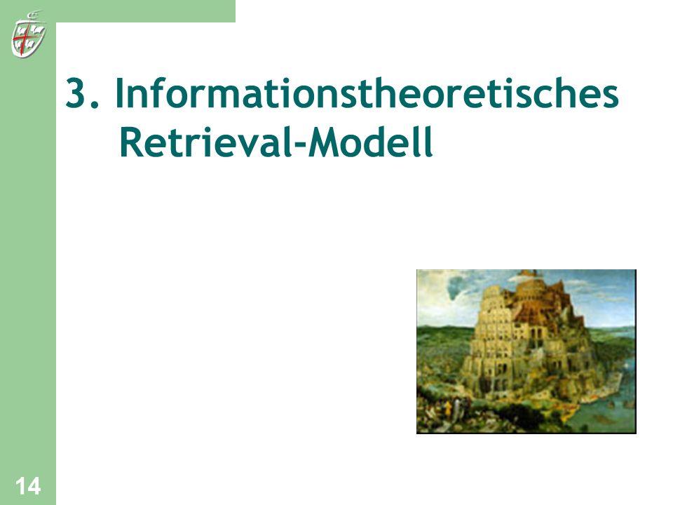 3. Informationstheoretisches Retrieval-Modell 14