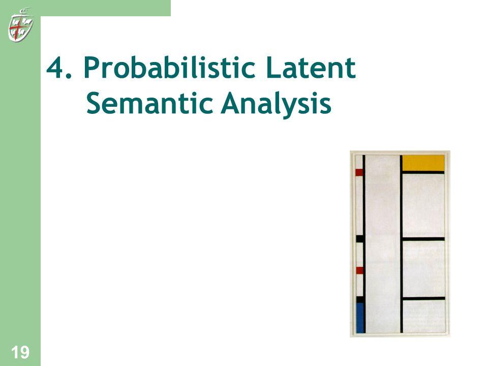 4. Probabilistic Latent Semantic Analysis 19