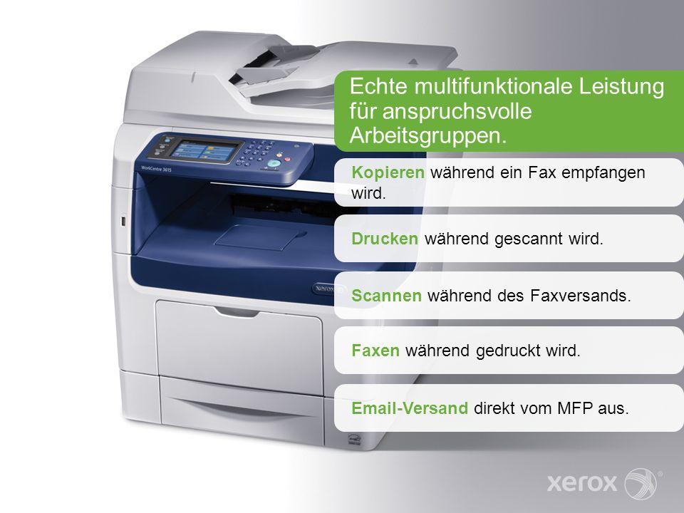 Kopieren während ein Fax empfangen wird.