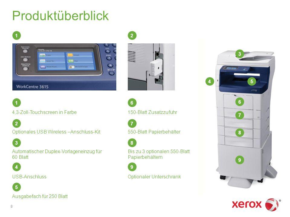 Xerox Vorteile 9 Xerox ® Global Print Driver ® and Xerox ® Mobile Express Driver ® Xerox ® Scan to PC Desktop ® CentreWare ® IS Xerox ® CentreWare ® Web Xerox ® PrintBack